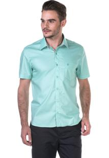 Camisa Docthos Manga Curta Tahiti Verde Água
