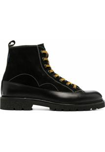 Ps Paul Smith Ankle Boot Com Cadarço - Preto