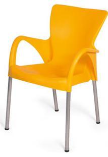 Cadeira Armenia Em Polipropileno Amarelo Com Pes Aluminio - 47944 - Sun House