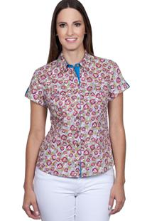 Camisa Love Poetry Estampada Azul