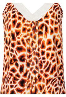 Blusa Com Alças Estampa E Renda Girafa - Lez A Lez