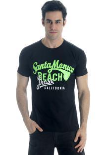 Camiseta Drope Jhose Santa Mônica Preto