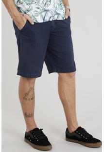 Bermuda Masculina Com Cordão Azul Marinho
