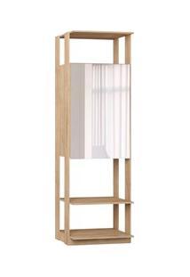 Guarda Roupa Closet Clothes 1007 2 Portas Com Espelho Carvalho Mel - B