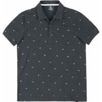 Camisa Polo Regular Masculina Em Malha Piquê De Algodão Estampada Hering 28555153dfa2e