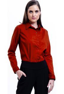 Camisa 101 Resort Wear Tricoline Elastano Vermelha