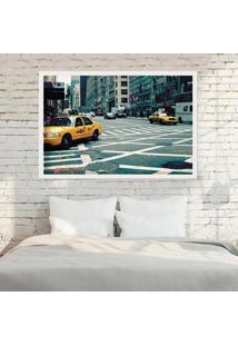 Quadro Love Decor Com Moldura New York City Branco Grande