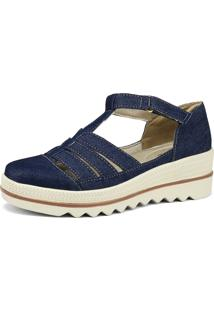 Sandália Flatform Rebento Jeans