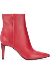 Kendall+Kylie Ankle Boot 'Zoe' De Couro - Vermelho