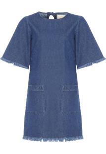 Vestido Jeans T-Shirt Cantão - Azul