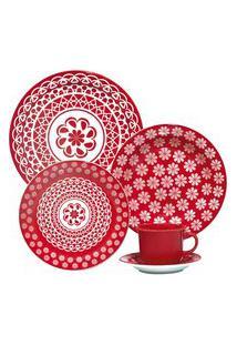 Aparelho De Jantar E Chá 20 Peças Floreal Renda 005224 Oxford Daily