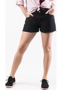 Shorts Feminino Em Tecido De Algodão Folha