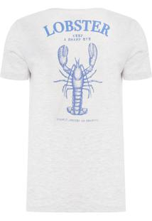Camiseta Masculina Lobster - Cinza Mescla