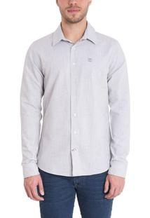 Camisa Mill River Linen Regular
