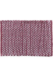 Tapete Micropop- Vermelho & Branco- 60X40Cm- Camcamesa