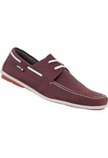 Sider D&R Shoes Casual Masculino - Masculino-Bordô