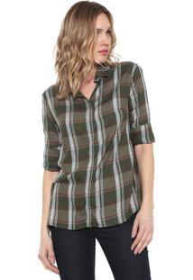 Camisa Sacada Xadrez Mountain Verde