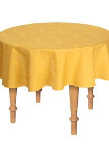 Toalha De Mesa Redonda Karsten Sempre Limpa Tropical 178Cm - Amarelo - Dafiti
