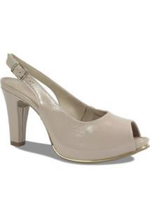 Sandália Chanel Dakota Verniz Feminino - Feminino-Nude