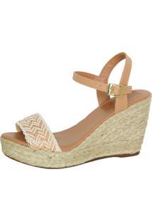 Sandália Infinity Shoes Anabela Caramelo