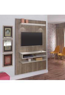 Painel Para Tv 47 Polegadas Nexus 120 Cm Canela E Off White