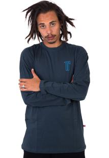 Camiseta Rogue Apparel Long Sleeve Chumbo