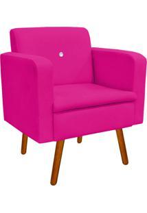 Poltrona Decorativa EmãLia Suede Pink Com Strass - D'Rossi - Rosa - Dafiti