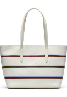 Bolsa Em Couro Lacoste Multicolorido. - Multicolorido - Feminino - Dafiti
