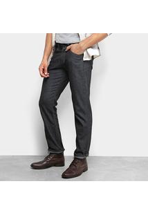 Calça Jeans Reta Rockblue Lisa Tradicional Masculina - Masculino-Chumbo