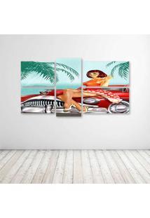 Quadro Decorativo - Pinup - Composto De 5 Quadros - Multicolorido - Dafiti