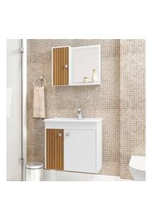 Armário Suspenso Para Banheiro Bechara Munique 3 Portas Branco