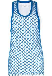 Sonia Rykiel Blusa Com Sobreposição Translúcida - Azul