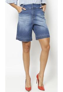 Bermuda Jeans Com Bolsos - Azul - Maria Valentinamaria Valentina