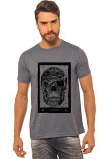 Camiseta Joss Masculino Estampada Caveira One Chumbo