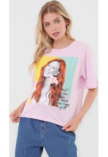 Camiseta My Favorite Thing(S) Good Things Take Time Rosa