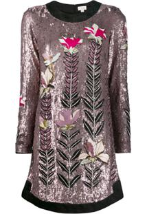 Temperley London Magnolia Sequin Shift-Dress - Rosa