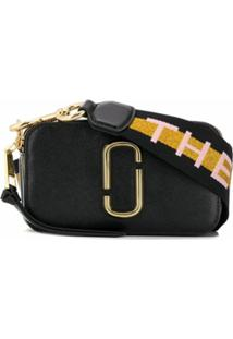The Marc Jacobs Bolsa Transversal Snapshot Bicolor De Couro - Preto