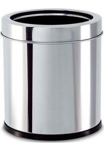 Lixeira Brinox Com Aro 3033/202 Em Aço Inox – 5,4 L