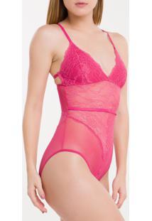 Body Triangulo Racerback Black Lamia - Rosa Pink - S