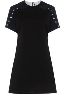 Calvin Klein 205W39Nyc Vestido Mangas Curtas - Preto