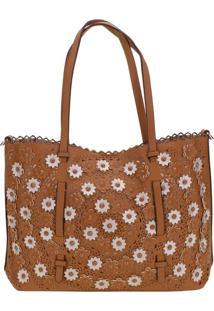 Bolsa Feminina Arara Dourada - H5027 Caramelo