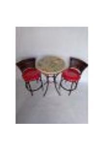 Conjunto De Mesa E Cadeira Mosaico Florido Gourmet