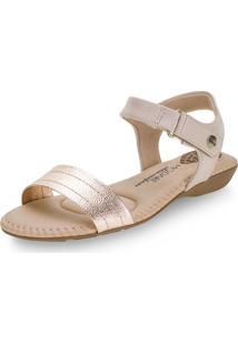 Sandália Feminina Salto Baixo Modare - 7025350 Bronze 34
