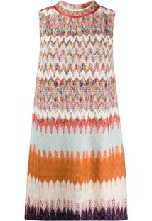 Missoni Vestido Reto Com Estampa Abstrata - Neutro