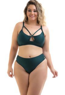 Biquíni Bojo Strappy Plus Size Verde