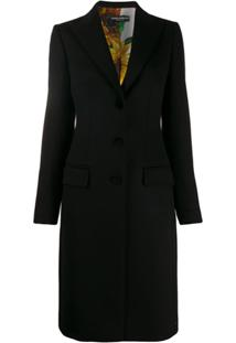 Dolce & Gabbana Single-Breasted Fitted Coat - Preto