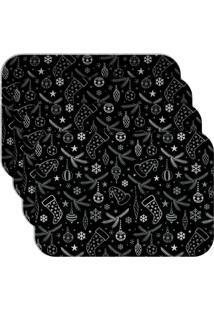 Jogo Americano - Love Decor Elementos Natalinos Kit Com 4 Peças