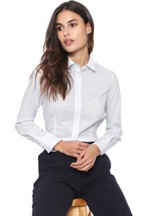 Camisa Dudalina Poás Branca/Azul