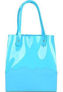 Bolsa Petite Jolie Shopper Feminina - Feminino-Azul