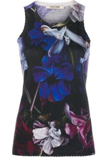 Roberto Cavalli Blusa Com Estampa Floral - Azul
